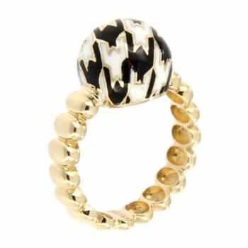 Золотое кольцо Roberto Bravo c цветной эмалью